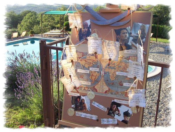 Mariage pirates des cara bes plan de tables pirates - Decoration pirate des caraibes ...