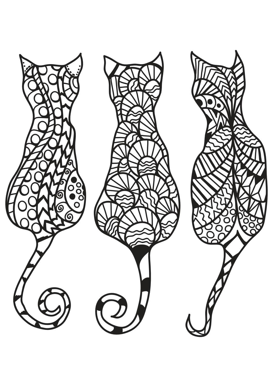 Cat Coloring Pages For Adults Printable Coloring Book Cat Coloring Page Cat Coloring Book Mandala Coloring Pages