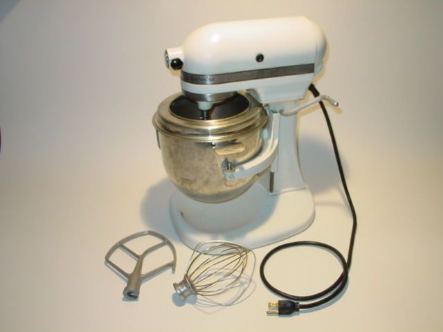 Vintage Kitchenaid Stand Mixer K5a White Whip Beater Bowl