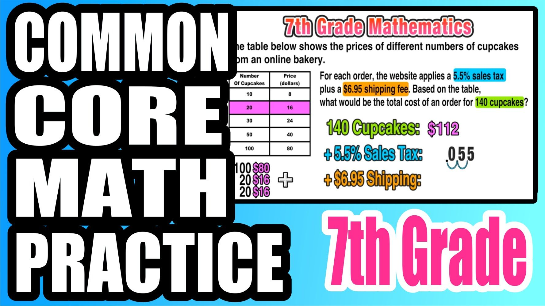 Practice With Ratios Proportions And Sales Tax 7th Grade Common Core Free Math Resources Common Core Math Math Video Lessons