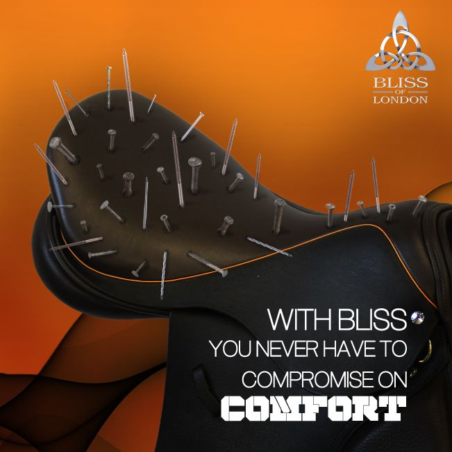 #Saddle #Comfort www.bliss-of-london.com