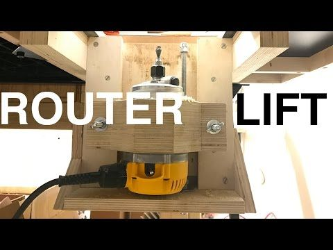 A quick solid router lift youtube woodwork tools and jigs a quick solid router lift youtube greentooth Gallery