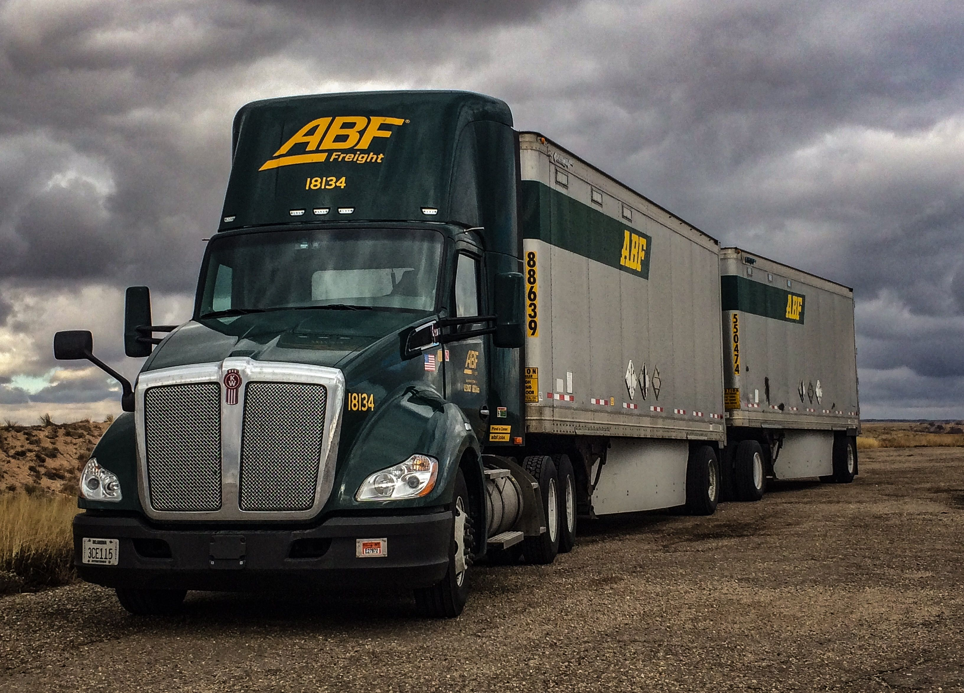 ABF Freight 2018 Kenworth tandem... Photo by George Stokes