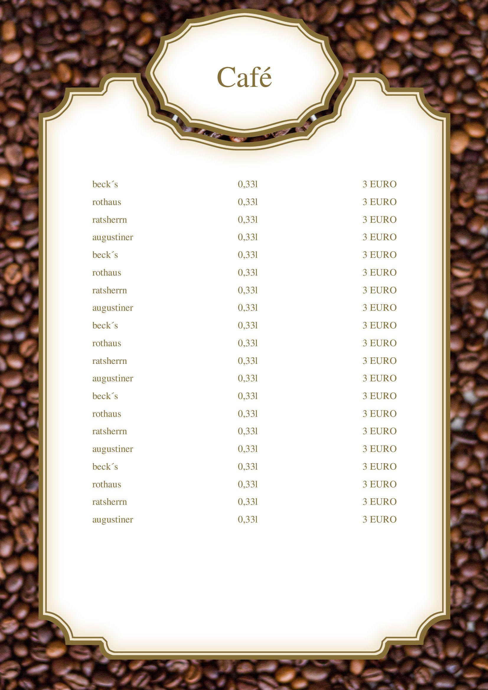 Ihre Getrankekarte Ist Der Wichtigste Verkaufer In Ihrem Cafe Mit Dieser Kostenlosen Druckvorlage Konnen Sie Ihre Speiseka Getranke Karte Vorlagen Speisekarte
