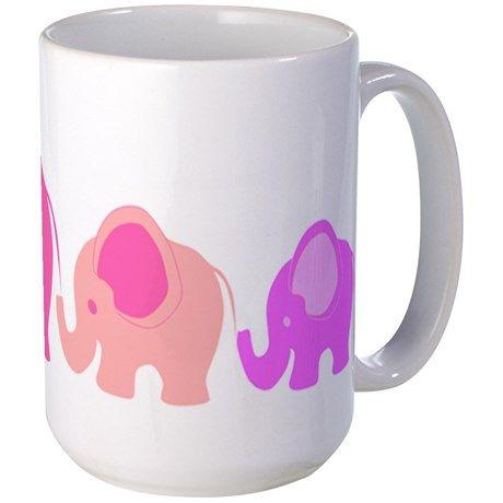 Pink Elephants Mugs on CafePress.com