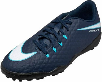 01d798acc Kids Nike HypervenomX Phelon III Turf Soccer Shoes. Shop now at  www.soccerpro.com