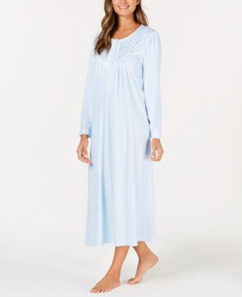 Miss Elaine Pointelle Knit Nightgown Blue Xl Night Gown