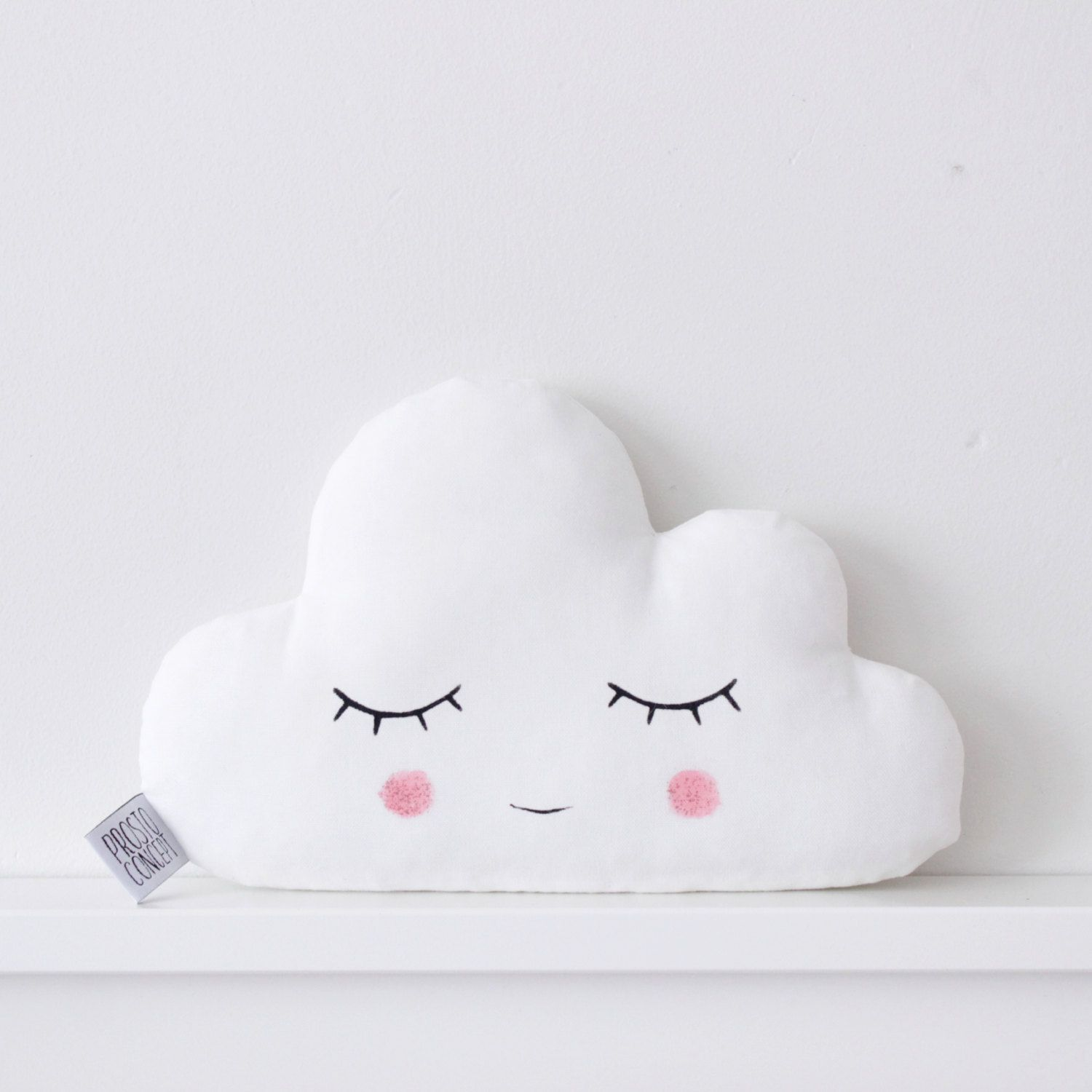 cloud cushion cloud pillow white nursery decor personalize pillow baby shower kids pillows new. Black Bedroom Furniture Sets. Home Design Ideas