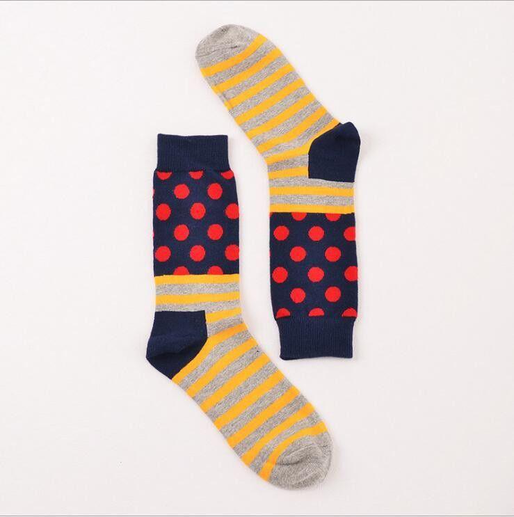 various styles look good shoes sale wholesale online New men/women coloured cotton happy sock dots stripes ...
