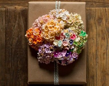 bunch vintage paper millinery flowers for gift wrapping, center pieces, and craft projects