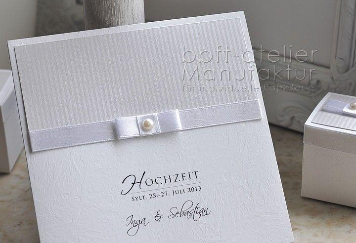 Großartig Einladungskarte Hochzeit Edelweiss Mit Perle
