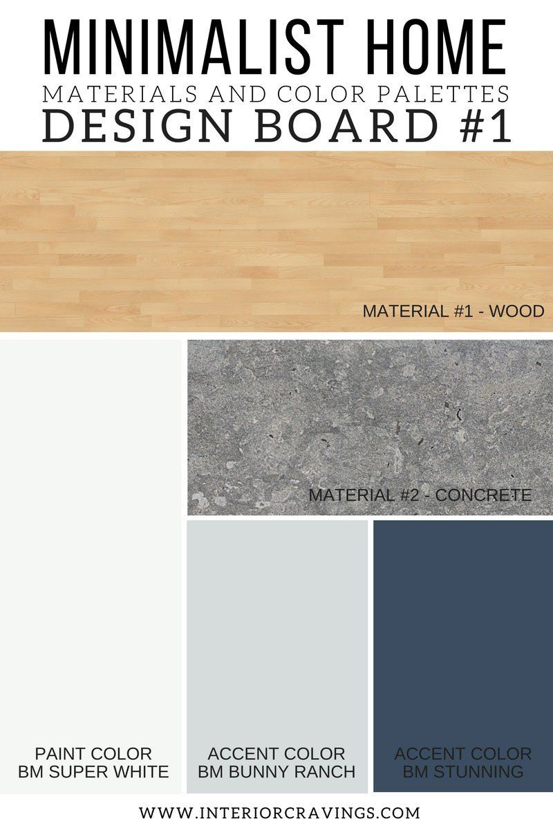 INTERIOR CRAVINGS MINIMALIST HOME ESSENTIALS MATERIALS AND COLOR PALETTES  MINIMALIST DESIGN BOARD 2
