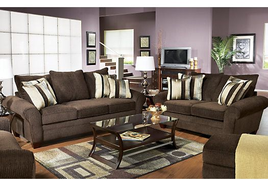 Shop For A Jersey Chocolate 7 Pc Livingroom At Rooms To Go