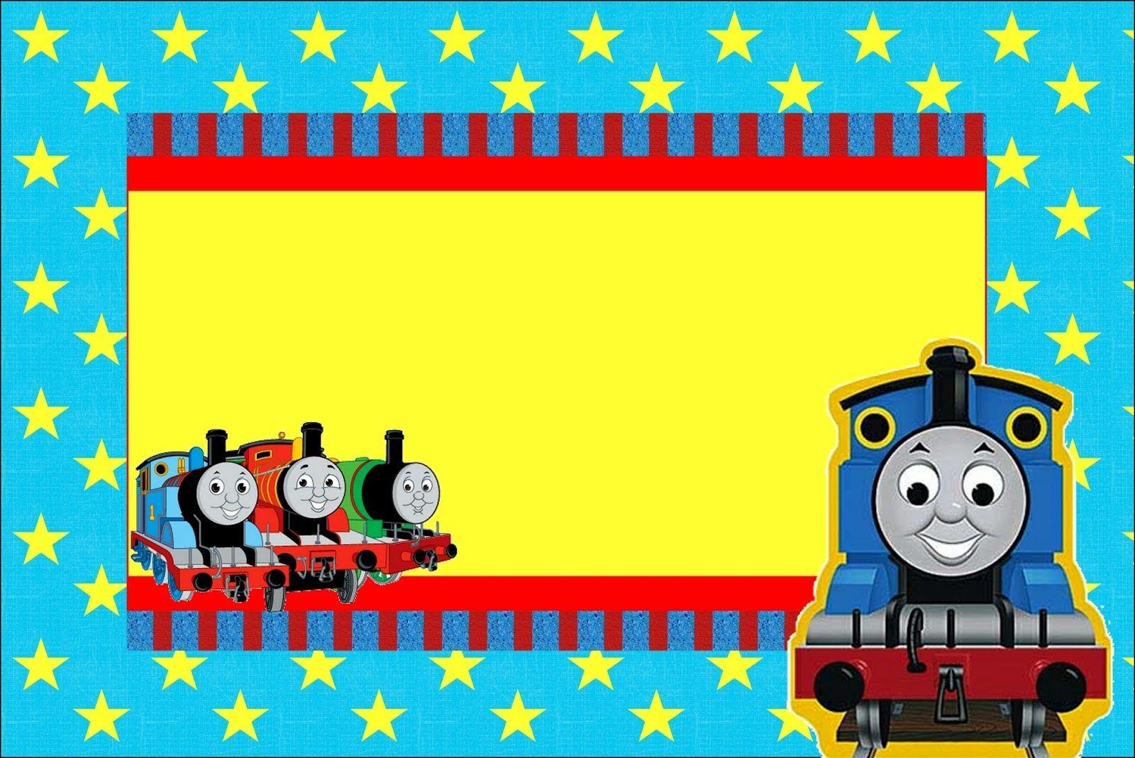 Tren Thomás: Invitaciones para Imprimir Gratis. | Marcos/Frame ...