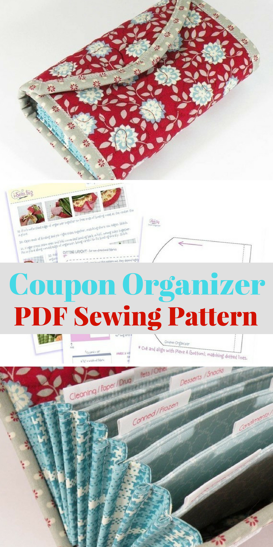 Coupon Organizer PDF SEWING PATTERN. Love the idea of a DIY project ...