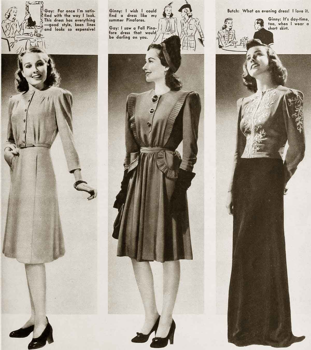 1940s-fashion-Winter-styles-for-January-1941 | 1940s ...