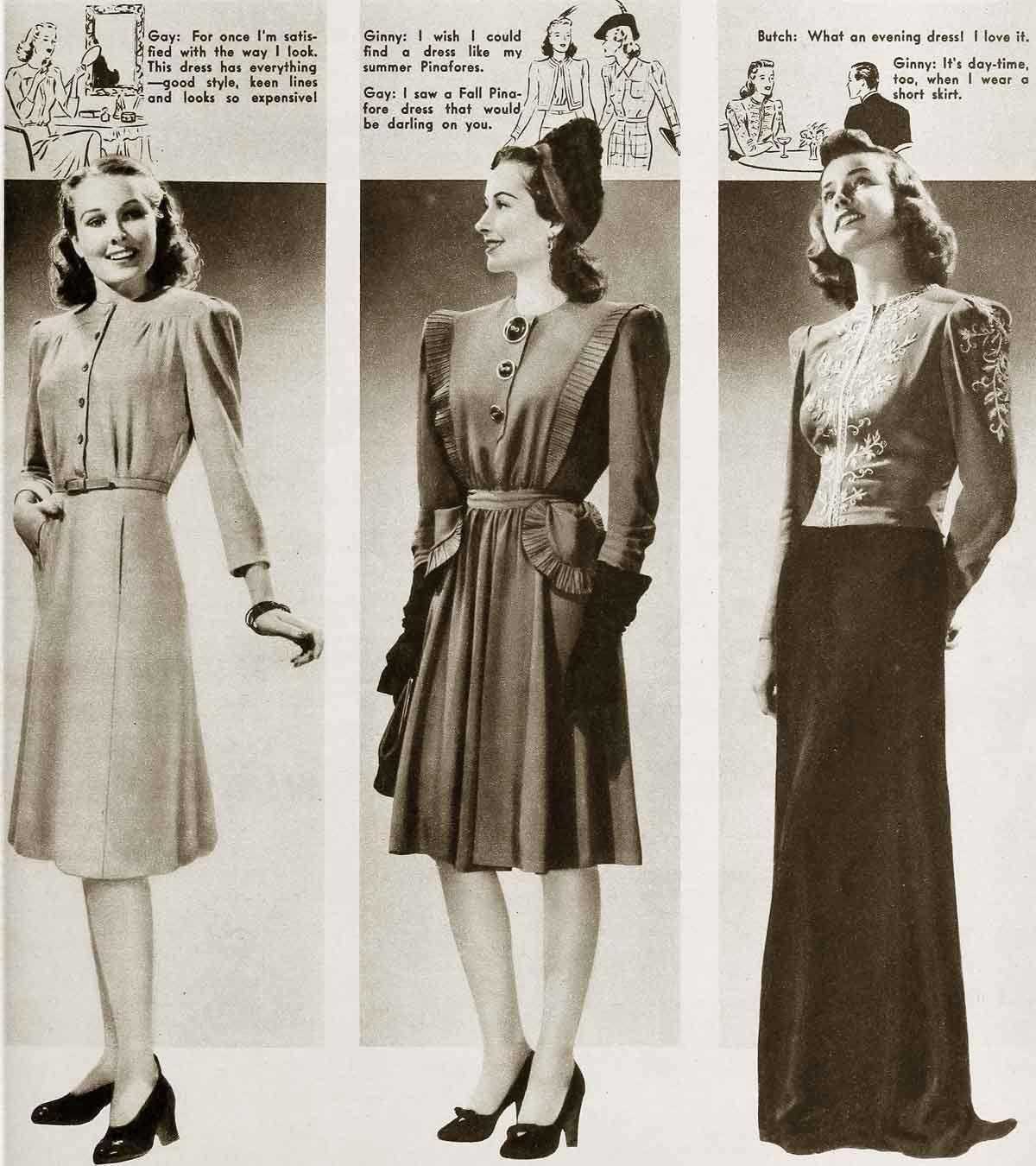 1940s Fashion – Cool Winter Styles (Glamour Daze)