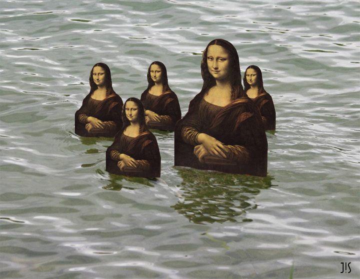 Pin By Mona Mae On Backgrounds: Joconde Mona Lisa Fait Le Canard