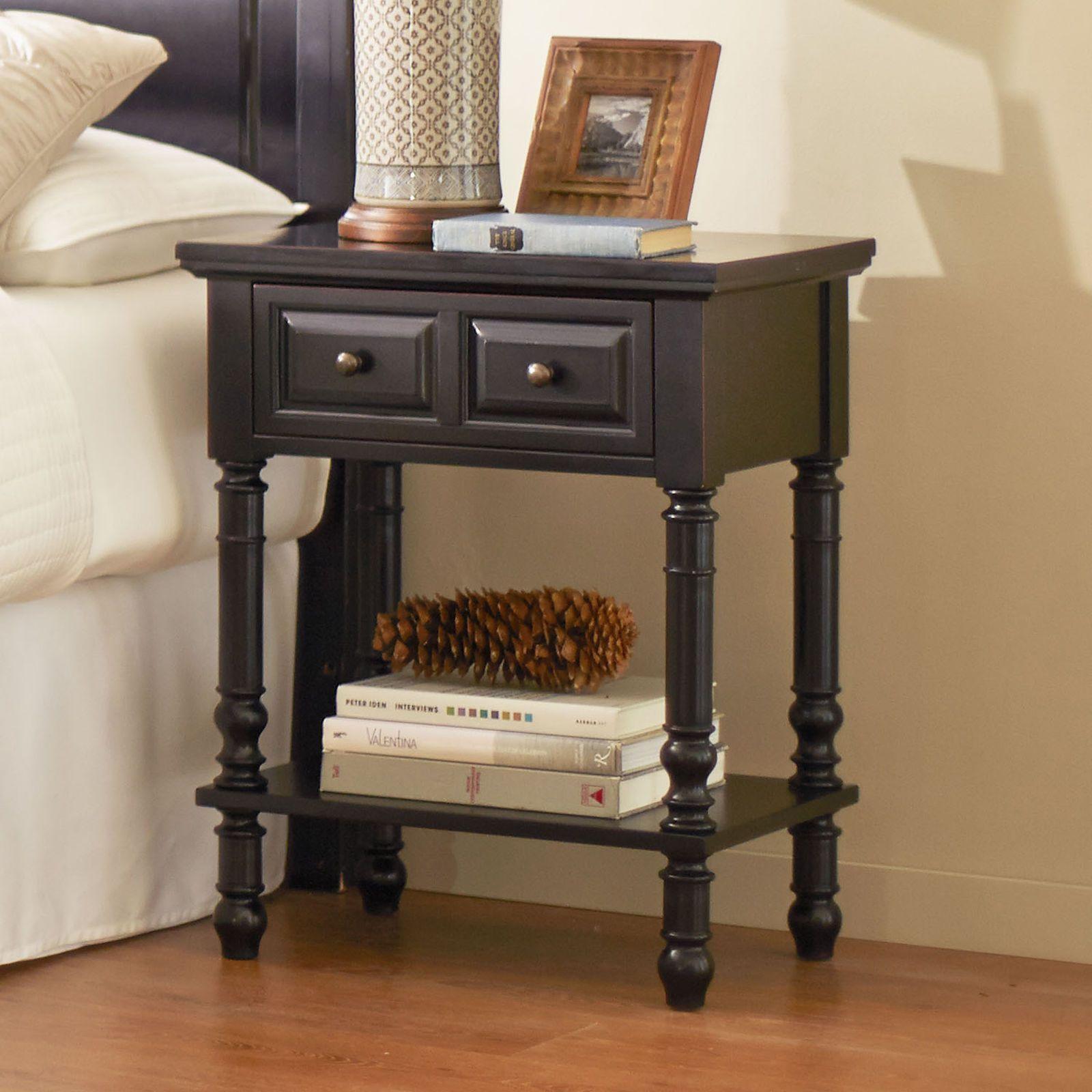Ashworth rubbed black nightstand black nightstand