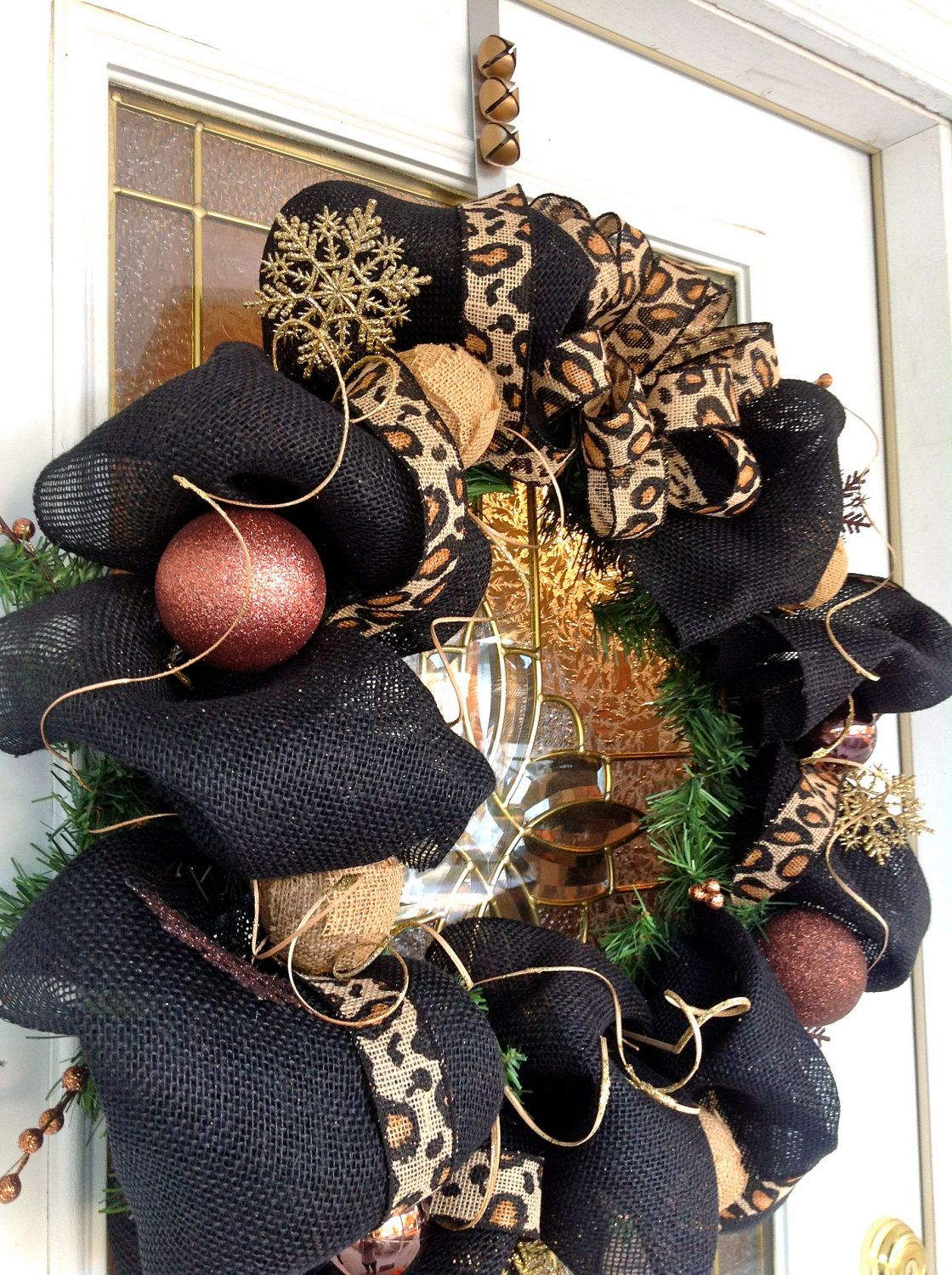 Whimsical Burlap Christmas Wreath, Burlap Wreath, Holiday Wreath, Wreaths  For Door, Animal