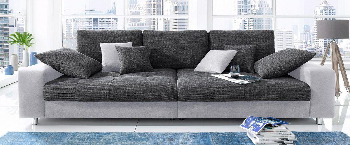 Big Sofa Wahlweise Mit Rgb Led Beleuchtung Ab 599 99 Frei Im Raum Stellbar Inklusive Loser Zier Und Ru Grosse Sofas Gunstige Sofas Couch Mit Schlaffunktion