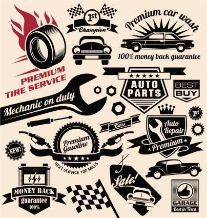 Retro Repair Shop Logo Google Search Car Logo Design Sign Design Car Symbols