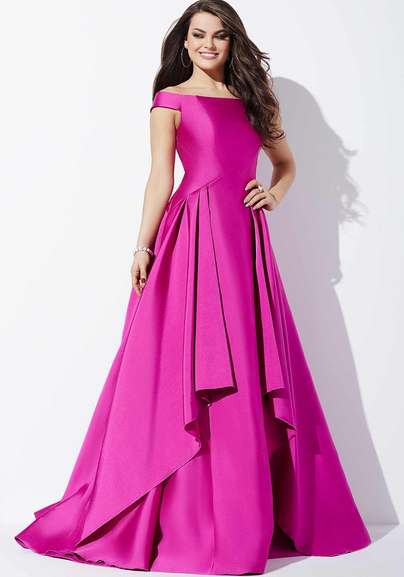 Gorgeous off the shoulder long dress features a drop waist a-line ...