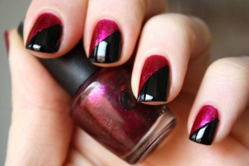 nail polish design | Two color nails, Simple nails, Simple ...