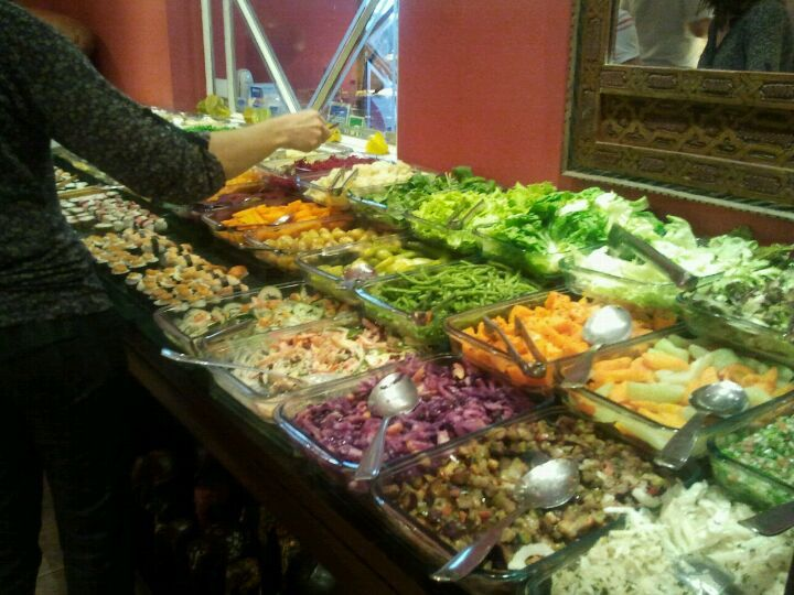 Melhor buffet árabe e vegano