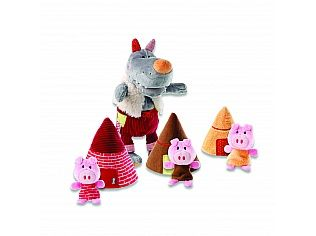 Wolf Hand Puppet and The Three Little Pigs