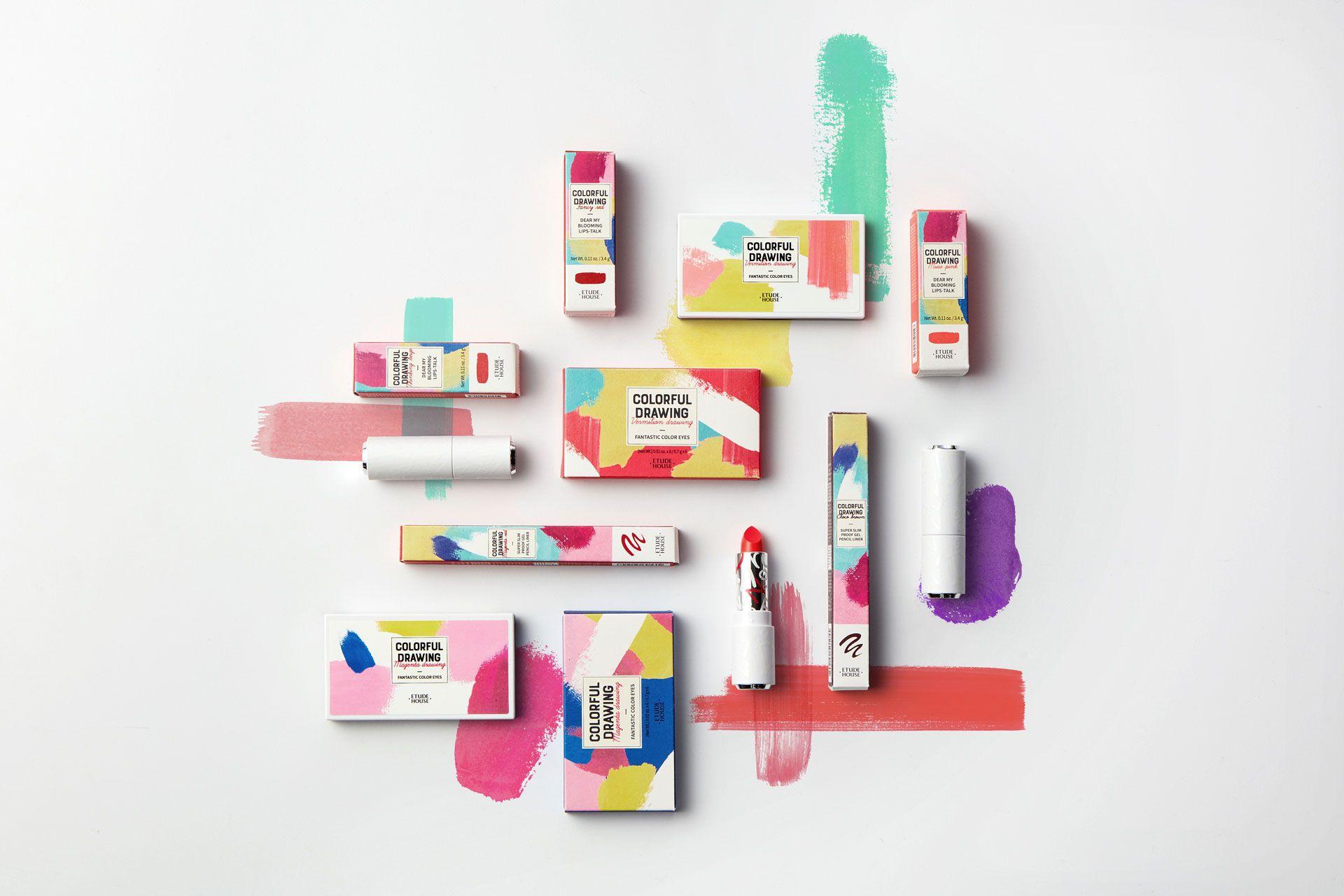 ohSeven 다채로운 그림, 화장품 디자인, 화장품