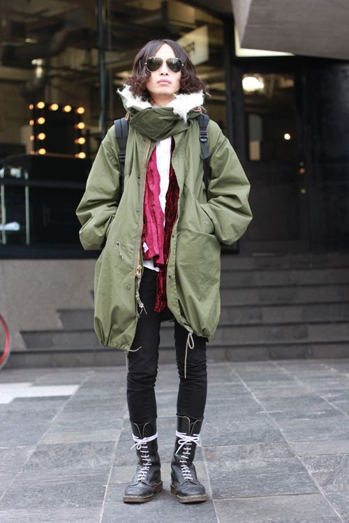M65 Parka Street Style 軍外套 Parka Outfit Fashion Clothes