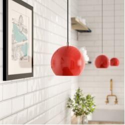 Photo of Bowl pendant lamp with 1 flame Ball FrandsenFrandsen