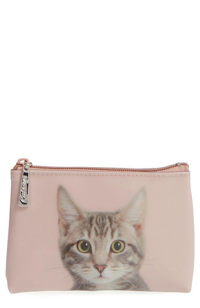 Catseye London Small Kitty Zip Pouch Pouch, Purses
