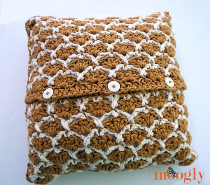 Sunshine Lattice Crochet Pillow | crochet | Pinterest