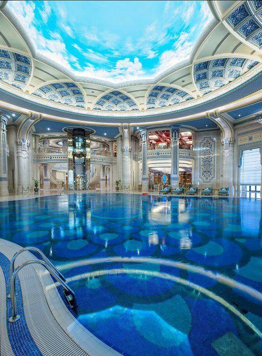 Indoor Pool At The Marvelous The Ritz Carlton Riyadh Saudi Arabia By The Ritz Carlton Hotel Company Dream Pools Luxury Pools Luxury Homes Dream Houses