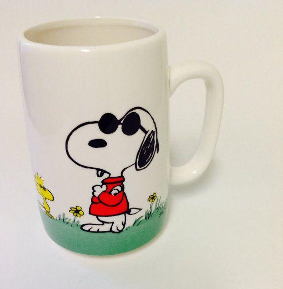 Snoopy Joe cool 1958 65 Peanuts Schulz coffee mug by puregerlz