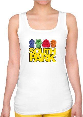 South Park Çocukları Kendin Tasarla - Bayan Kare Yaka Atlet