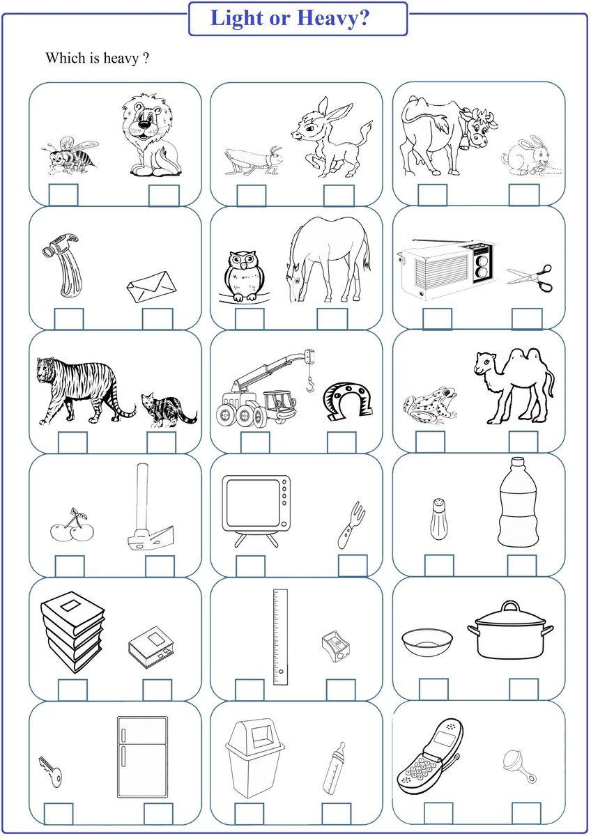 Light And Heavy Worksheets For Kindergarten Kindergarten Worksheets Kindergarten Worksheets Printable Heavy And Light [ 1200 x 848 Pixel ]