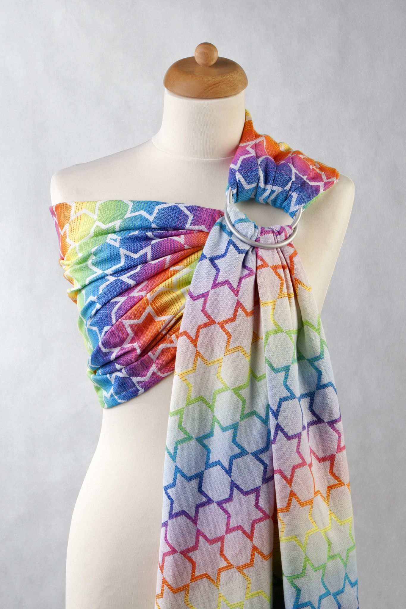 Lenny Lamb Rainbow Star (cotton) Ring Sling