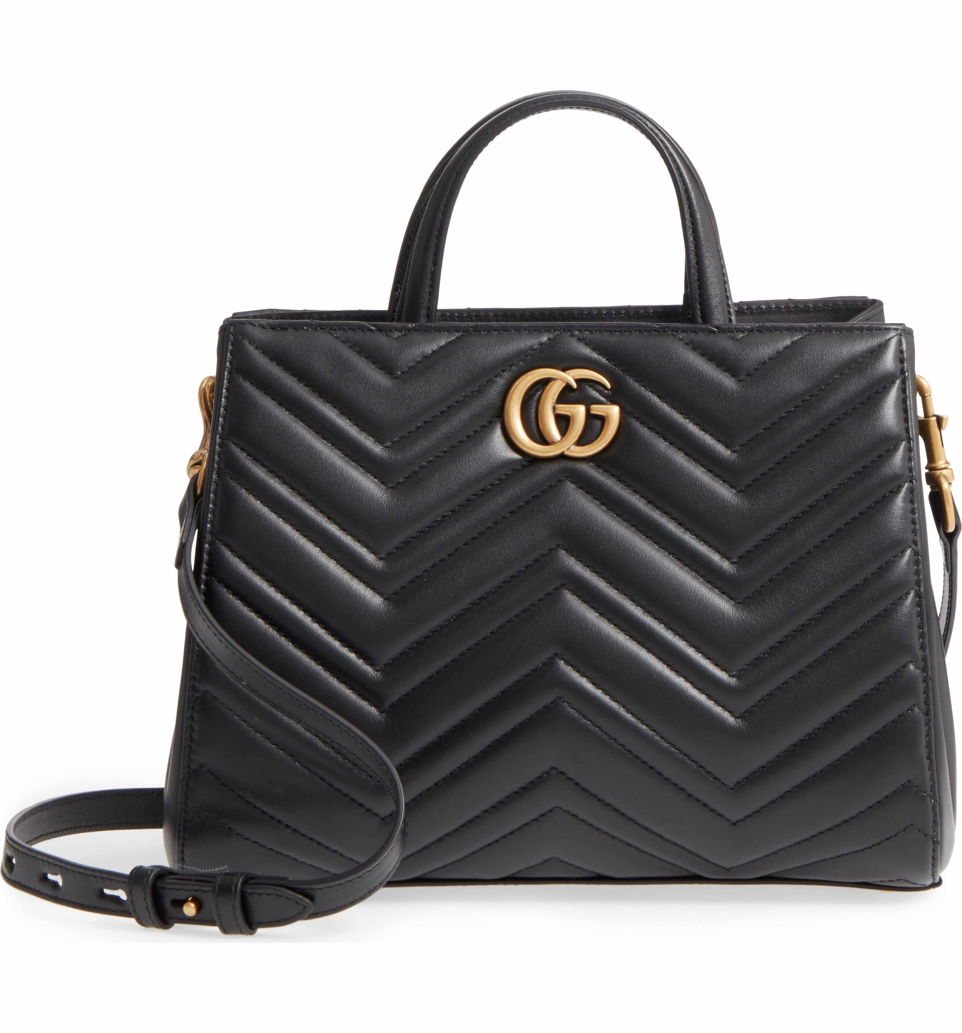 c59f7c401a4 Main Image - Gucci GG Small Marmont 2.0 Matelassé Leather Top Handle Satchel