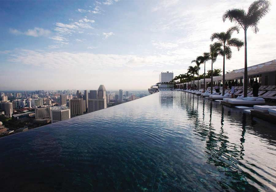 Hotel In Singapore With Infinity Pool On Roof In 2020 Amazing Swimming Pools Cool Swimming Pools Sands Hotel