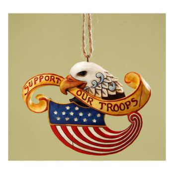 """Support Our Troops"" - Jim Shore Ornaments 4017605 