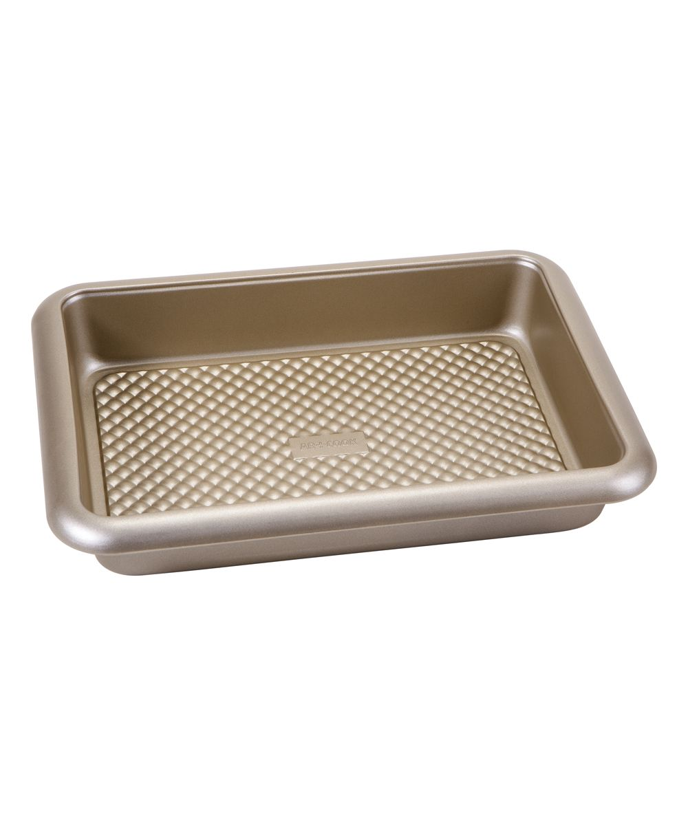 Champagne-Finish 10 5'' x 14 5'' Nonstick Roaster Pan | Products