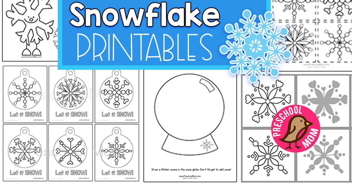 Free Snowflake Preschool Printables (With images