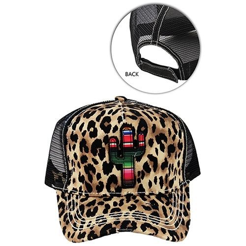 657d831edf1a5 New Cheetah Serape Cactus Mesh Trucker Distressed Baseball Cap Hat #SP  #TruckerBaseball