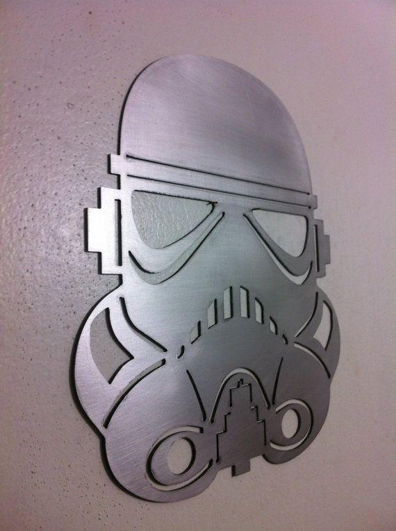 Star Wars Stormtrooper Helmet Mask Steel Metal Wall Art Arte En Metal Proyectos Cnc Toca Madera