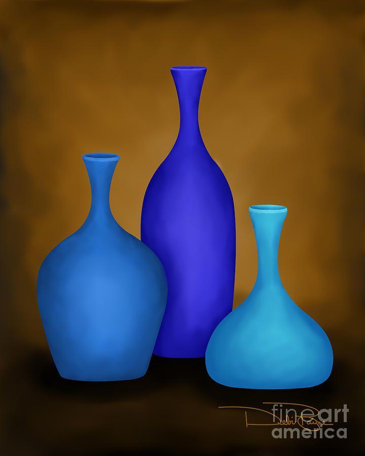 Three Vases Third Digital Art And Paintings
