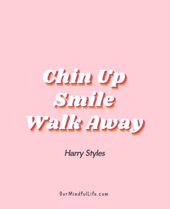 chin up, walk away -   style Quotes wallpaper