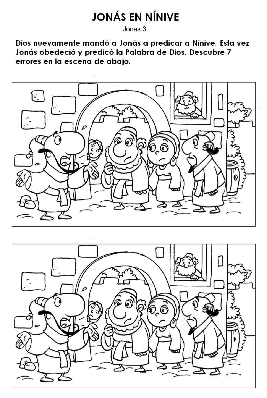 Actividades para trabajar la historia del libro de Jonás | dibujos ...
